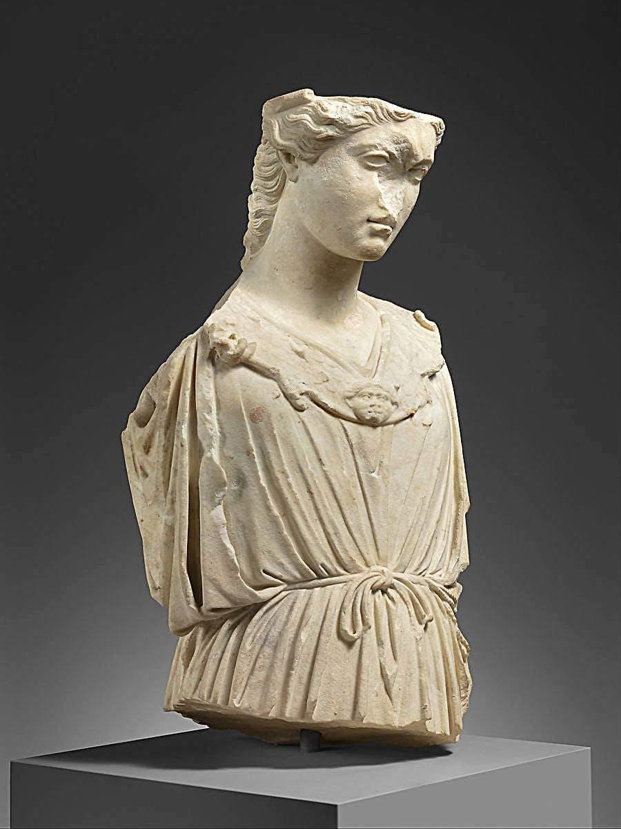 roman women marble head torso athena
